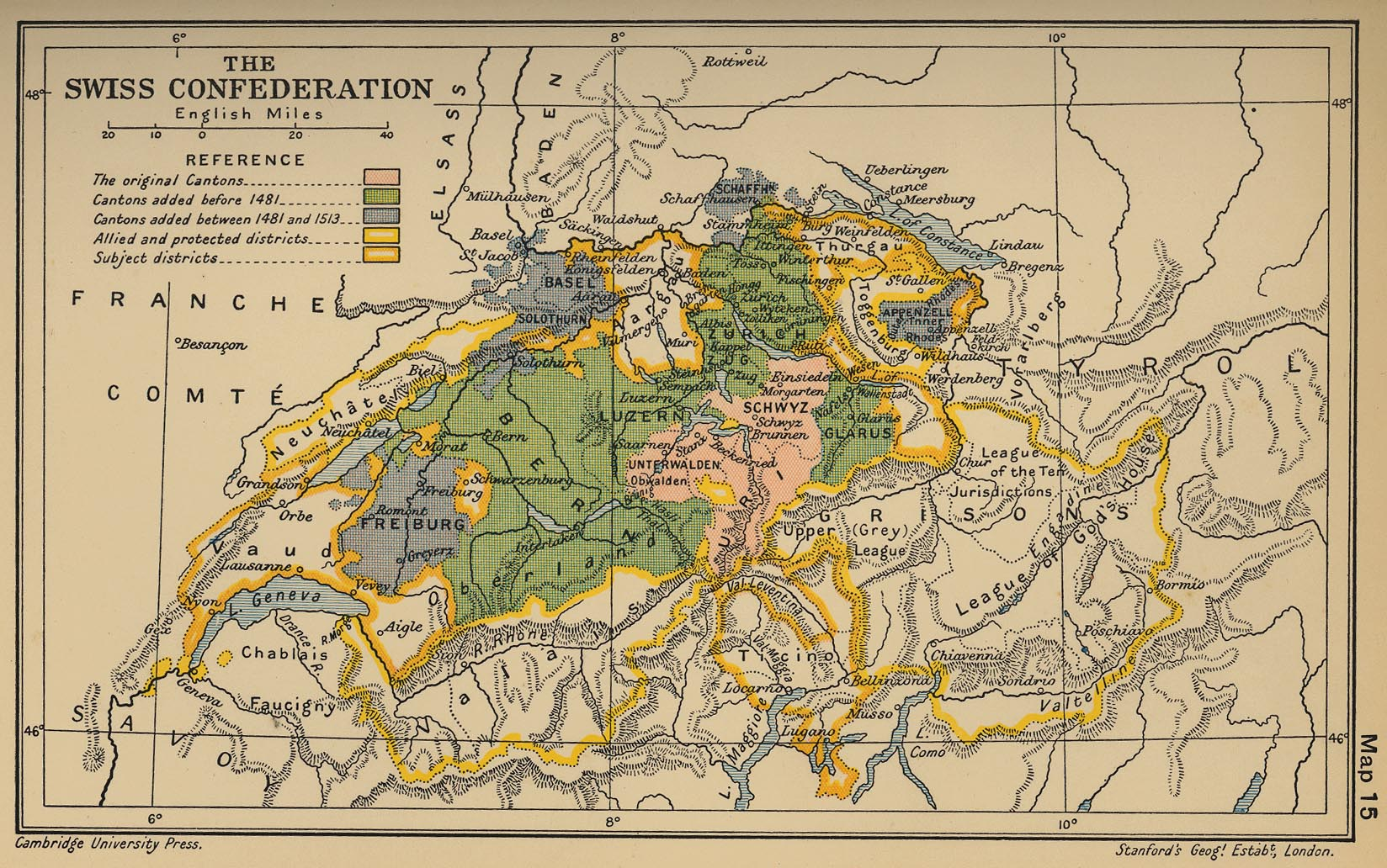of the Swiss Confederation 1513
