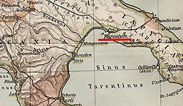 Tarentum Italy Map.Pyrrhic War 280 275 Bc