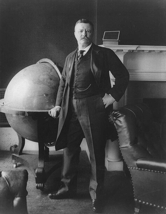 Theodore Roosevelt, Winner of Biggest Globe Contest, c. February 24, 1903