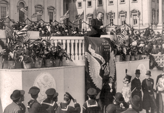 SECOND INAUGURATION - T. ROOSEVELT ADDRESSES THE CROWD