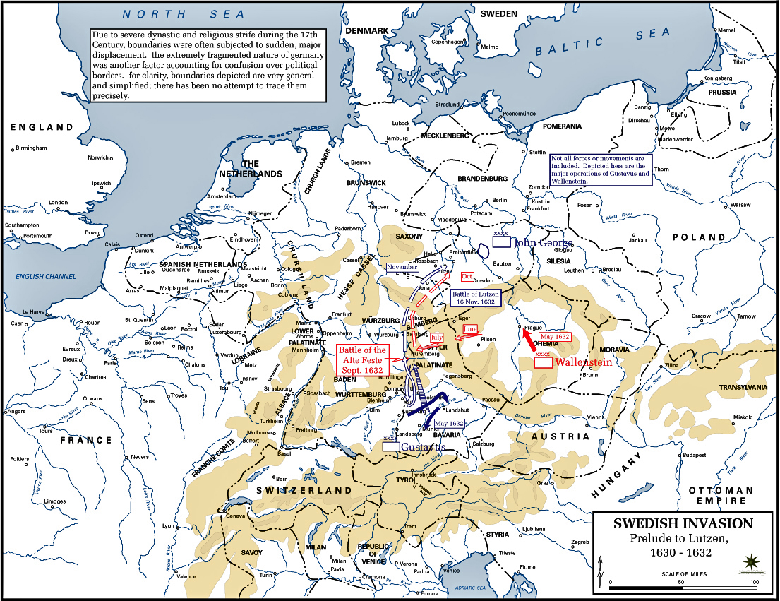 Of The Thirty Years War - Map germany thirty years war
