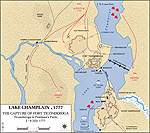Map of the Battle of Ticonderoga - July 6, 1777
