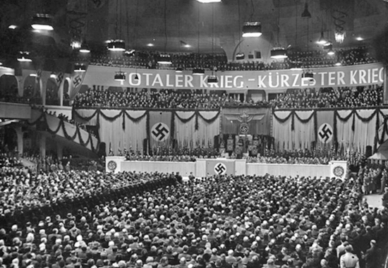 DELIVERING THE SPEECH OF HIS LIFETIME - JOSEPH GOEBBELS 1943