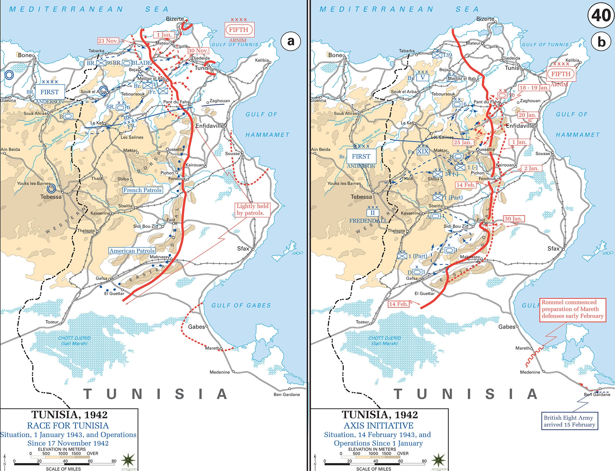 Map of wwii tunisia 194243 map of wwii tunisia 194243 race for tunis november 17 1942 gumiabroncs Image collections
