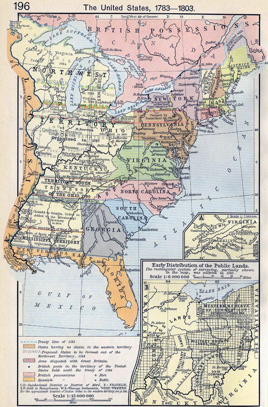 Map of the United States 1783-1803