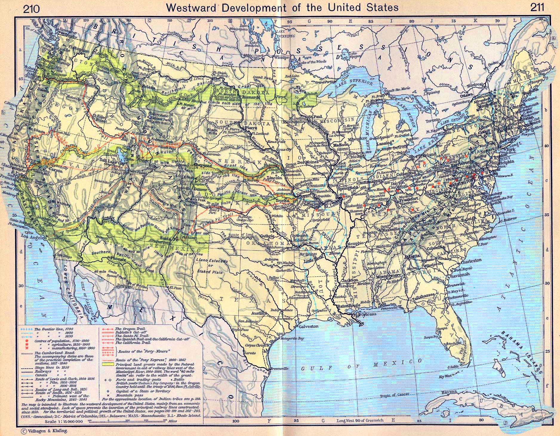 Map Of America 1900.Map Of The United States 1790 1900