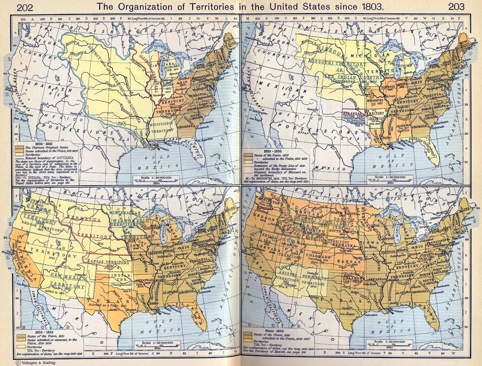 Map Of The United States Since - Map of us territories in 1803