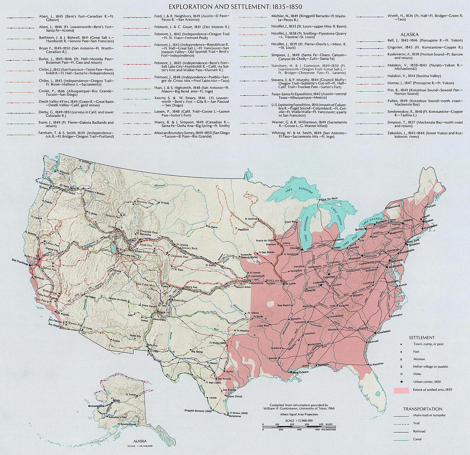 Map Of The USA Exploration - 1850 map of us