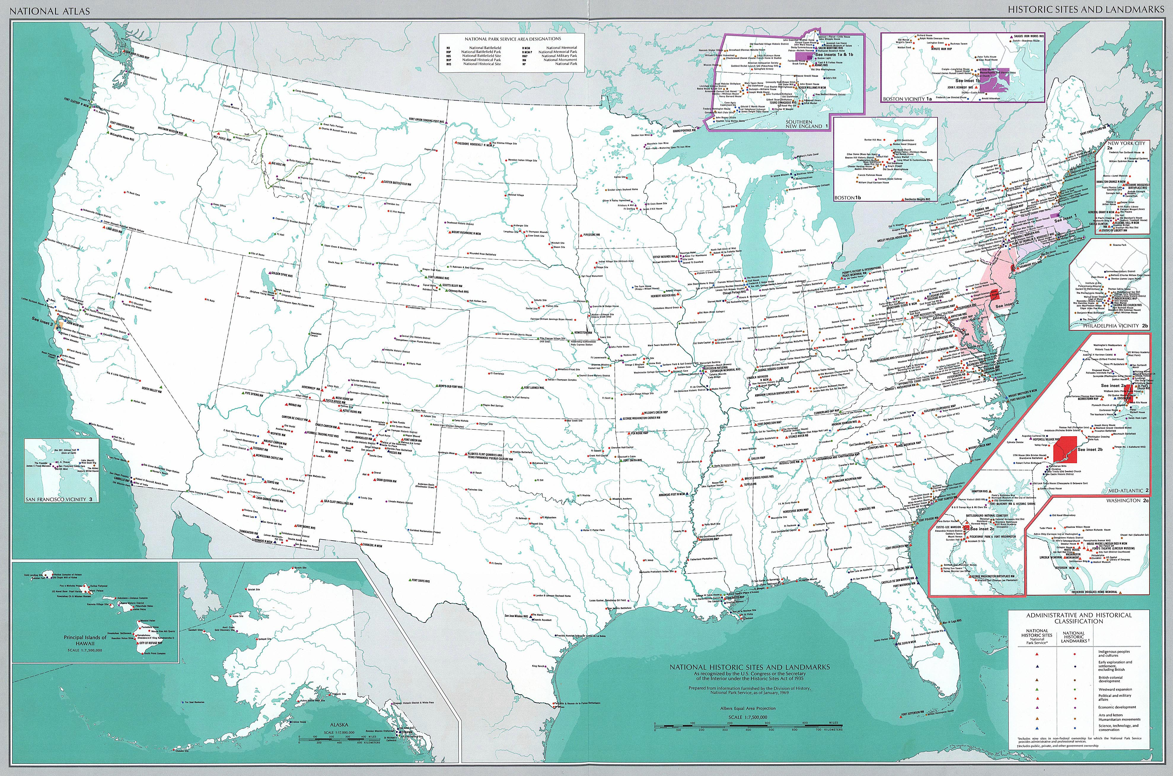 Map Of The Usa Historic Sites Map Usa Landmarks