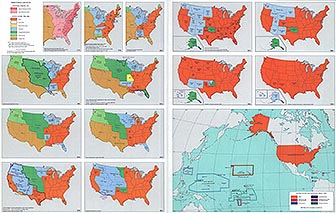 Fourteen History Maps of the United States: Territorial Growth 1775-1970