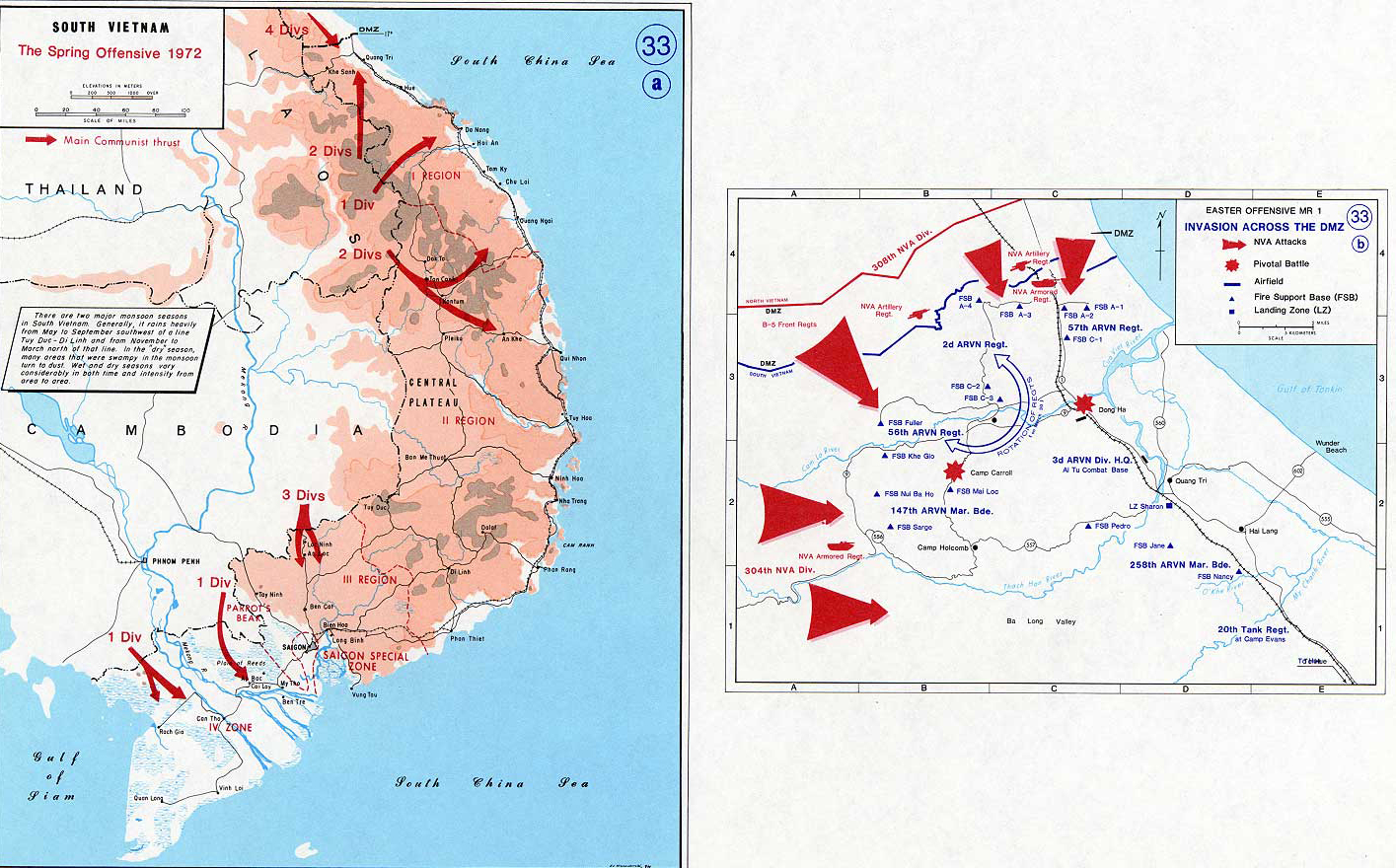 Map of the Vietnam War 1972