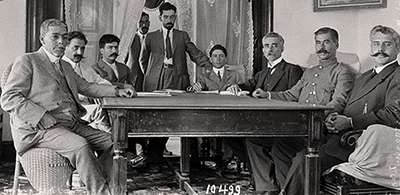 Villa-Carranza peace conference at Torreon July 4, 1914