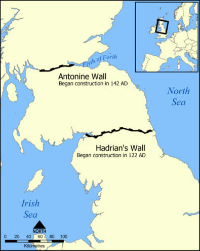 map of hadrian's wall