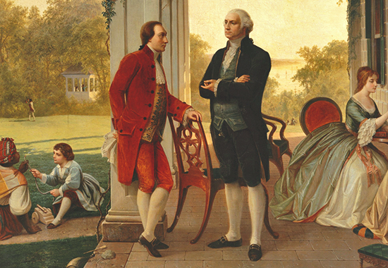 Washington and Lafayette at Mount Vernon, 1784 (detail)