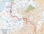 Map of WWI: Western Front 1915-1916