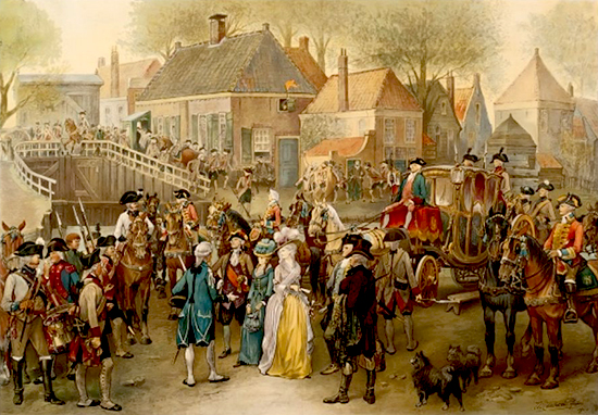 The Arrest of Wilhelmina of Prussia at the Goejanverwelle Lock on June 28, 1787