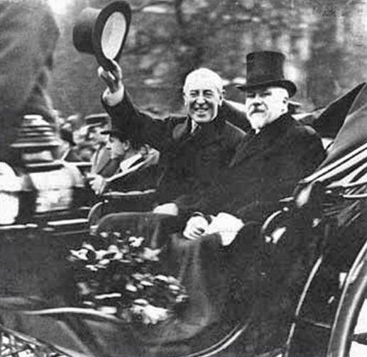 U.S. PRESIDENT WILSON AND FRENCH PRESIDENT POINCARE 1918
