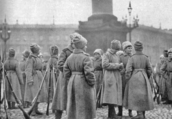 FEMALE UDARNITSKY BATTALION ASSIGNED TO THE PALACE AREA, 1917