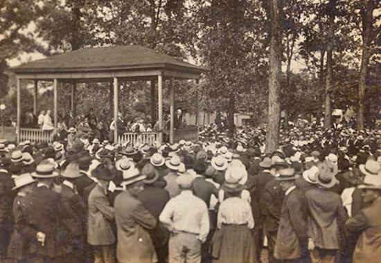 EUGENE V. DEBS RALLYING IN CANTON, OHIO - 1918