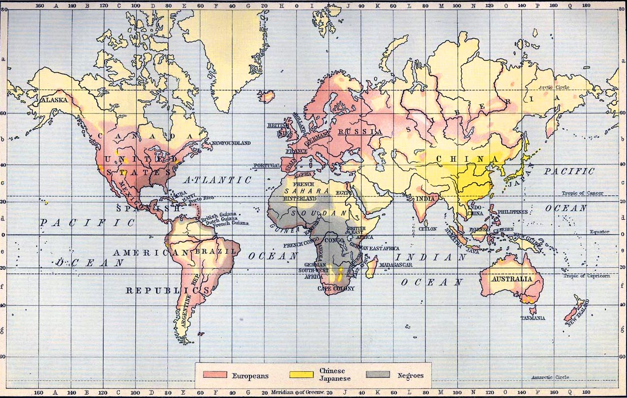 HISTORY MAPS  World Races 1911
