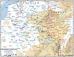 Northwest European Map.World War I The Great War 1914 1918