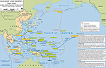 Map of WWII: Major Operations in Asia and the Pacific