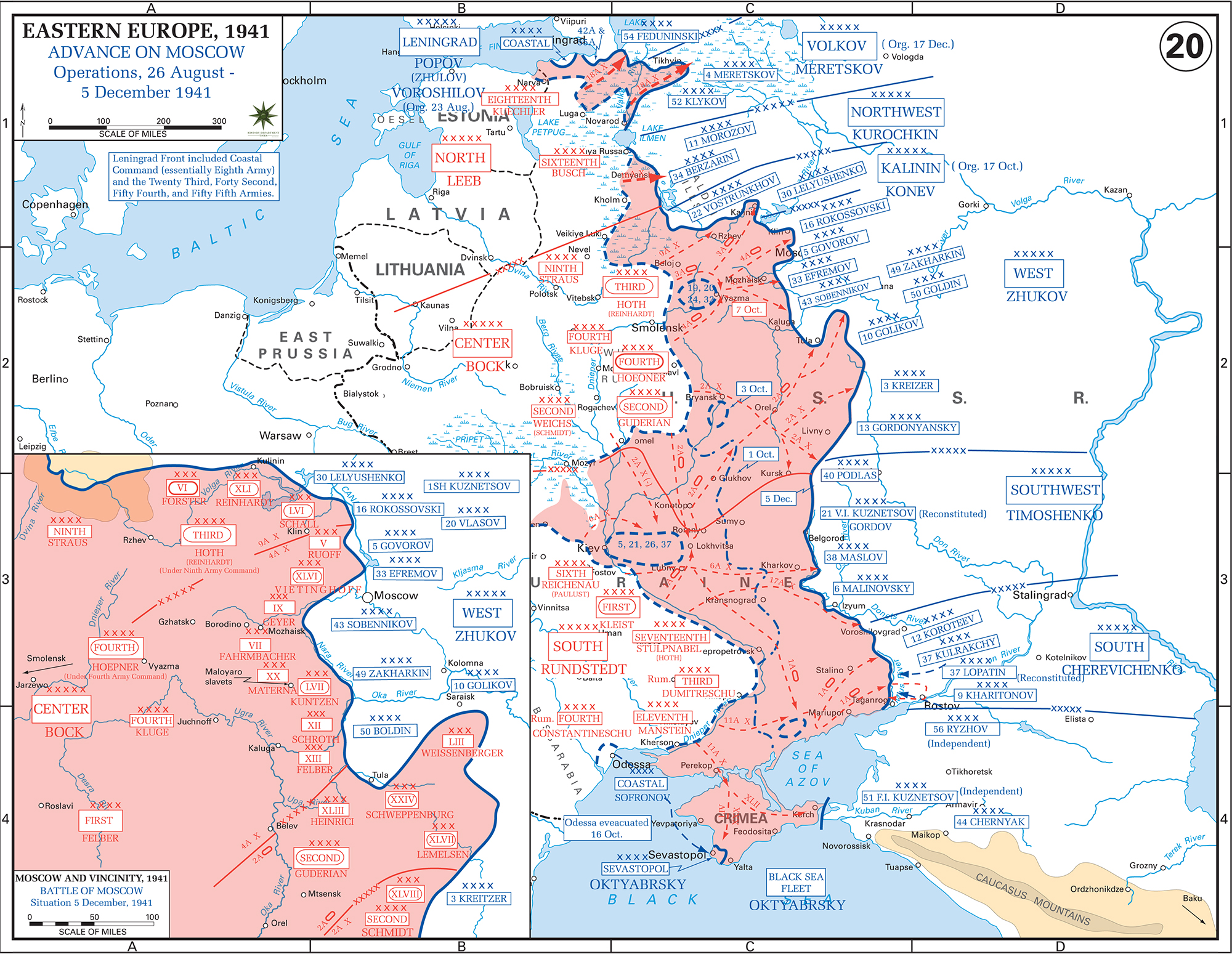 Wwii german invasion of russia operations august 26 december 5 1941