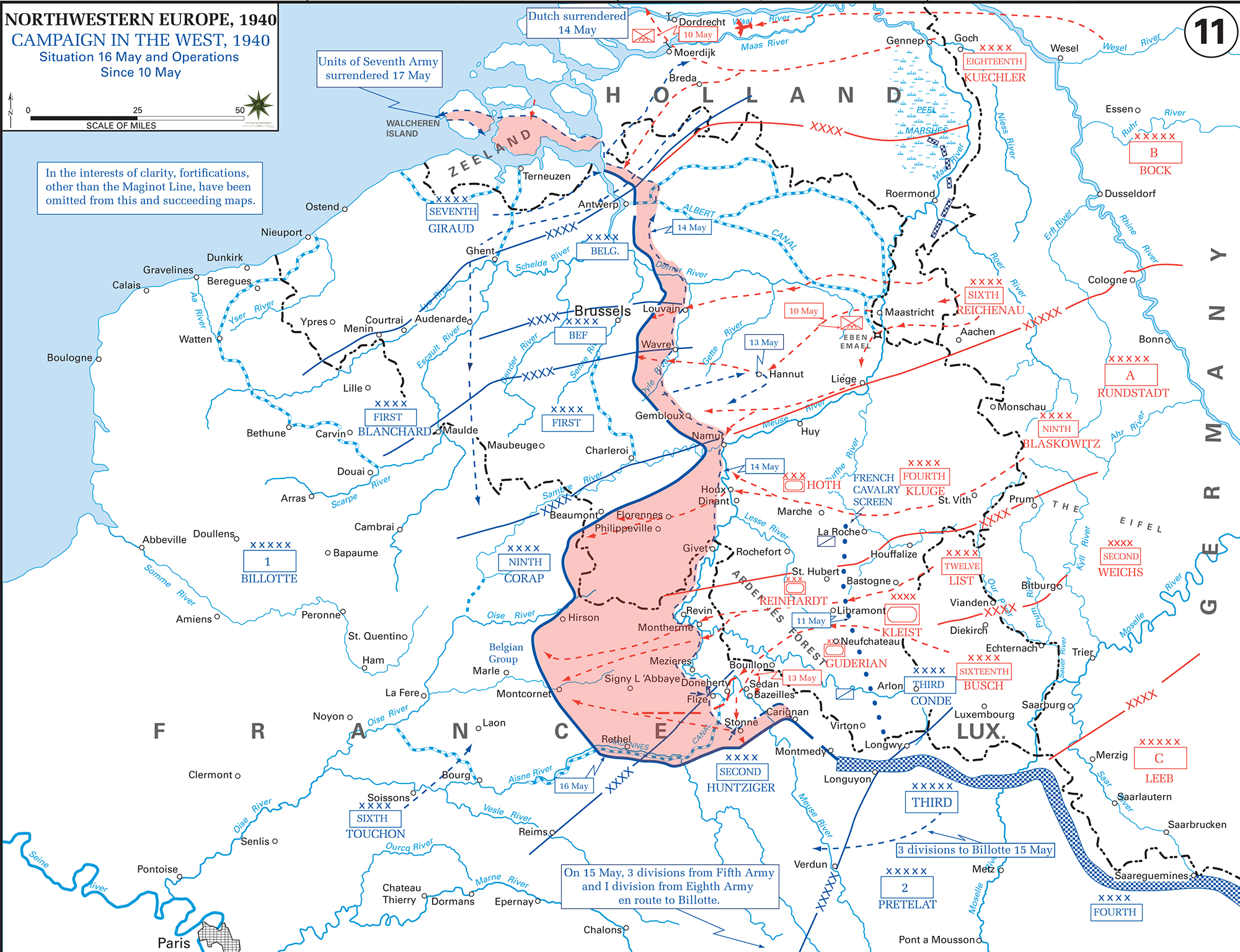 Map of wwii the war in the west 1940 may 10 16 wwii the war in the west may 10 16 1940 gumiabroncs Image collections
